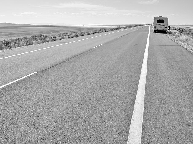truck on the roadside