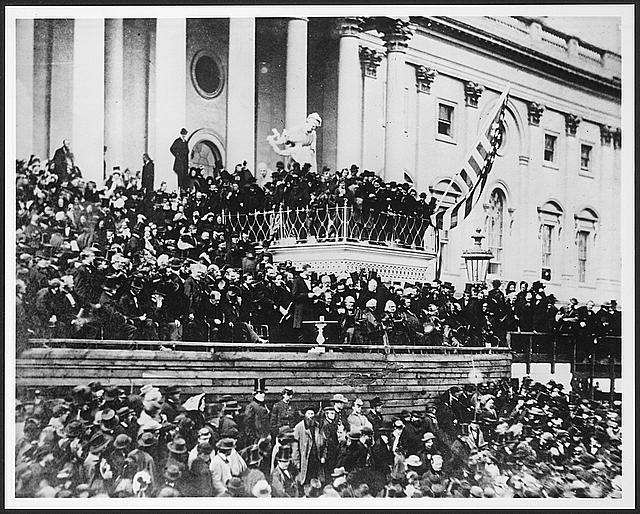 Image of President Lincoln's 2nd inaugural address.